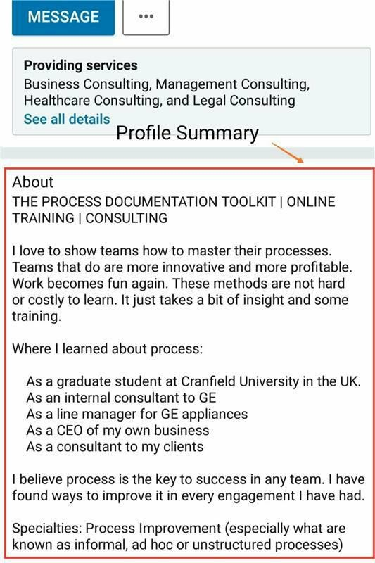 Profile Summary