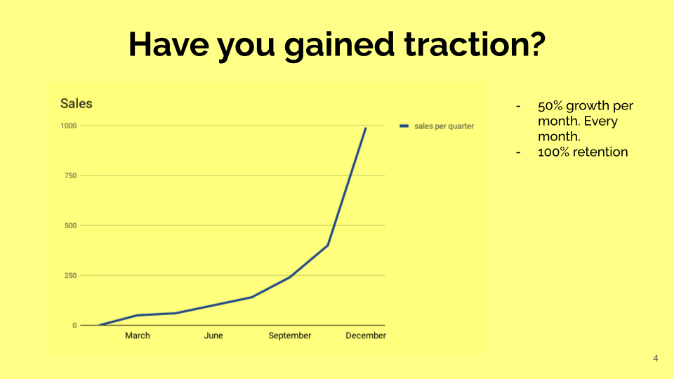 Gain traction in Pitch Deck