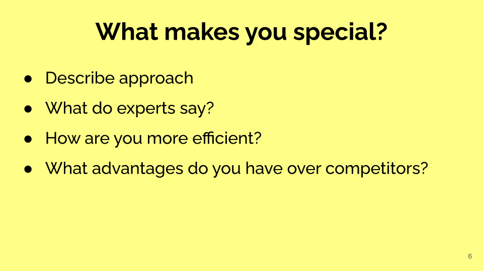 Make Your Pitch Deck Special