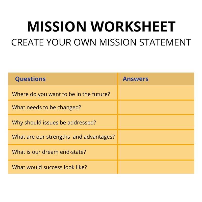 Mission Worksheet