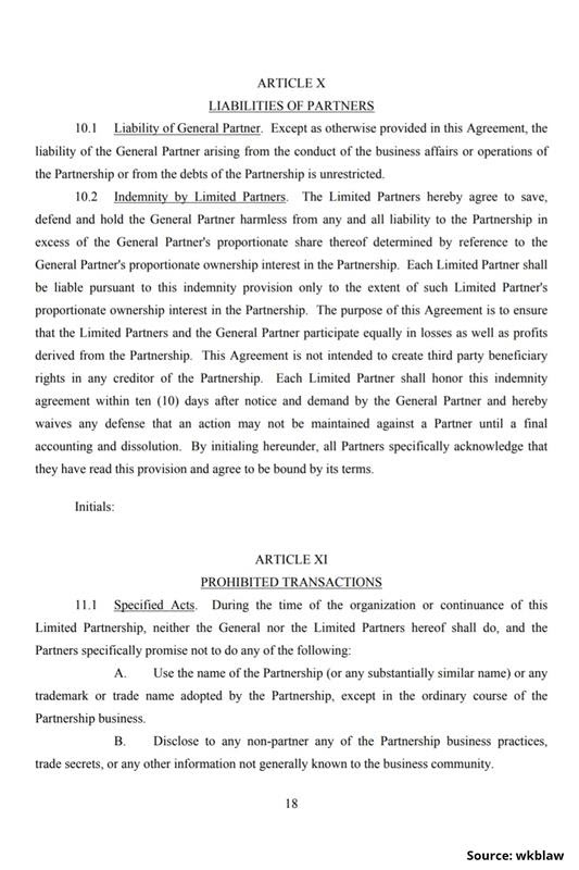 Limited Partnership Agreement-18