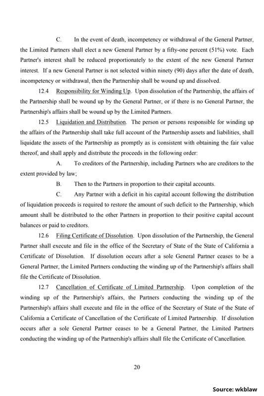 Limited Partnership Agreement-20