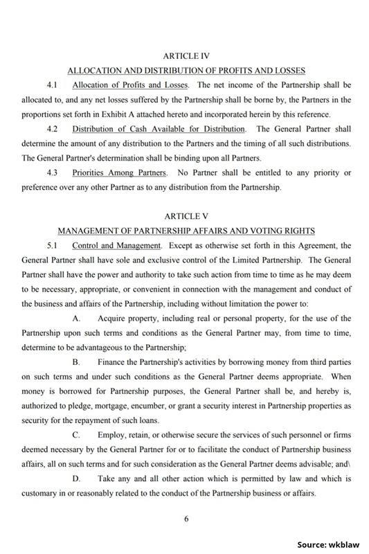 Limited Partnership Agreement-6