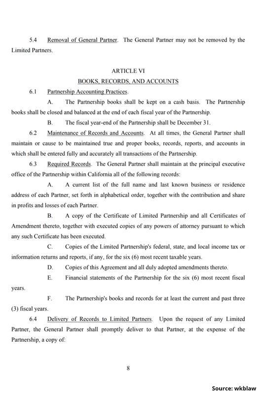 Limited Partnership Agreement-8