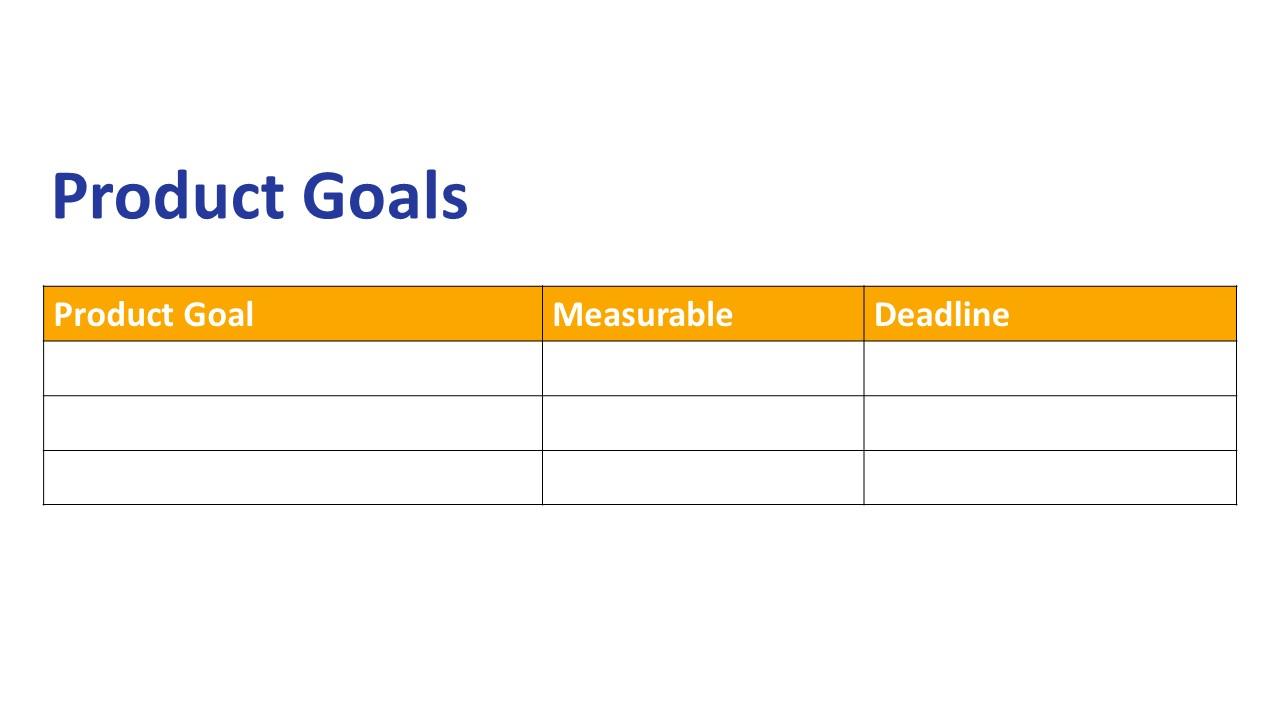 Product Goals